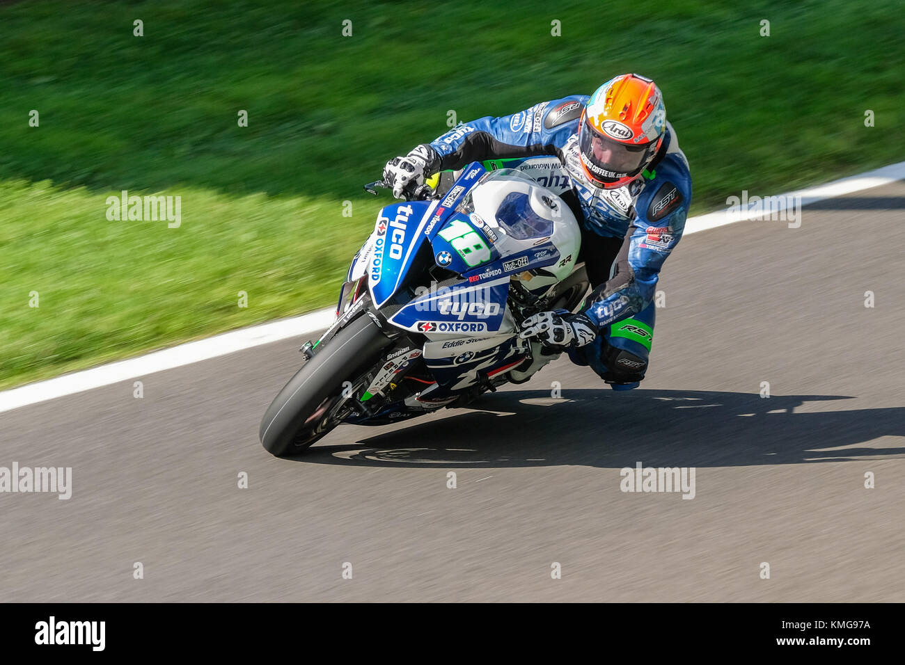 Round 8 of the British Superbikes Championship at Cadwell Park in Lincolnshire during August 2017 - Stock Image