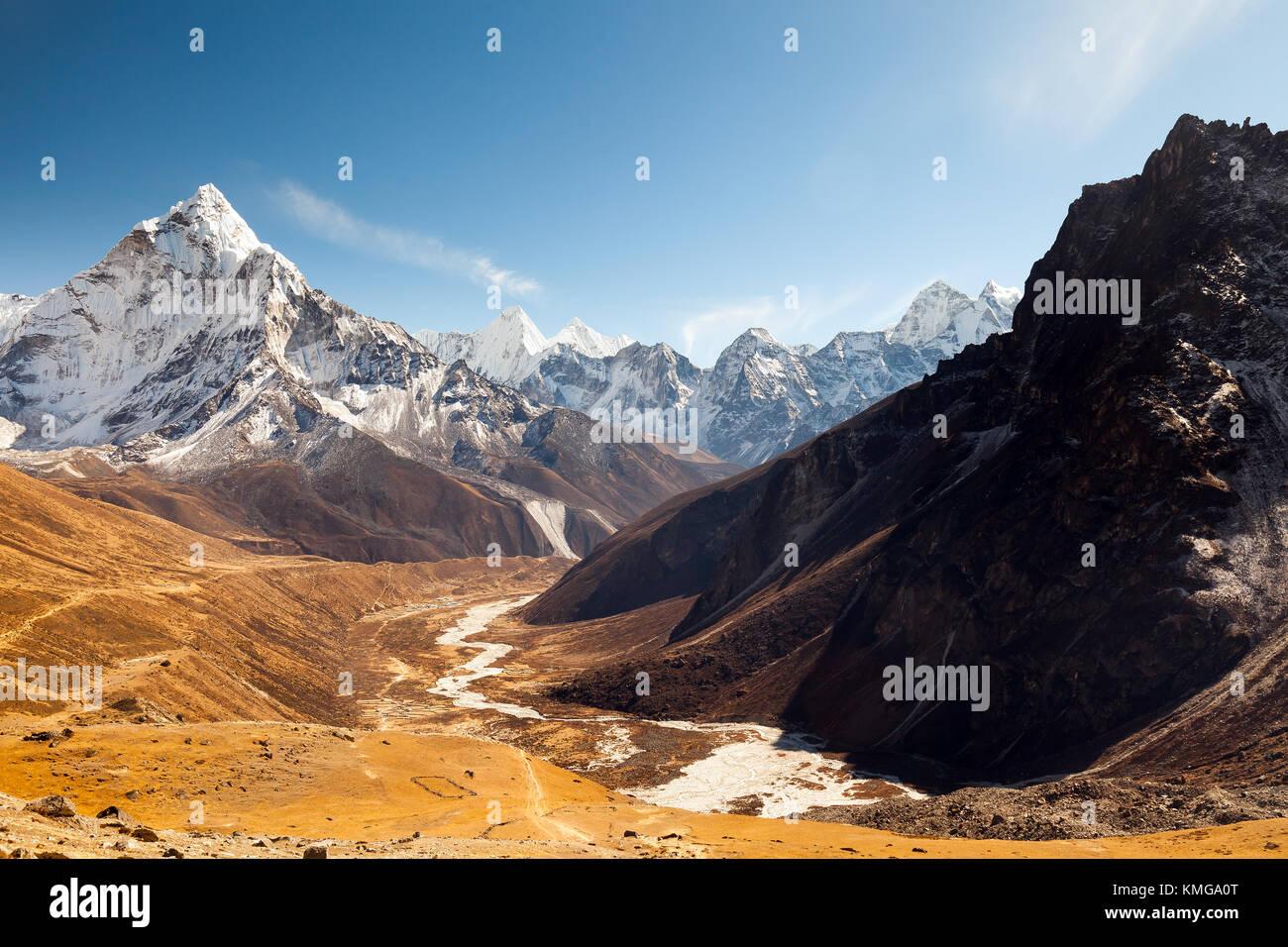 Ama Dablam, Everest region, Himalaya, Nepal - Stock Image