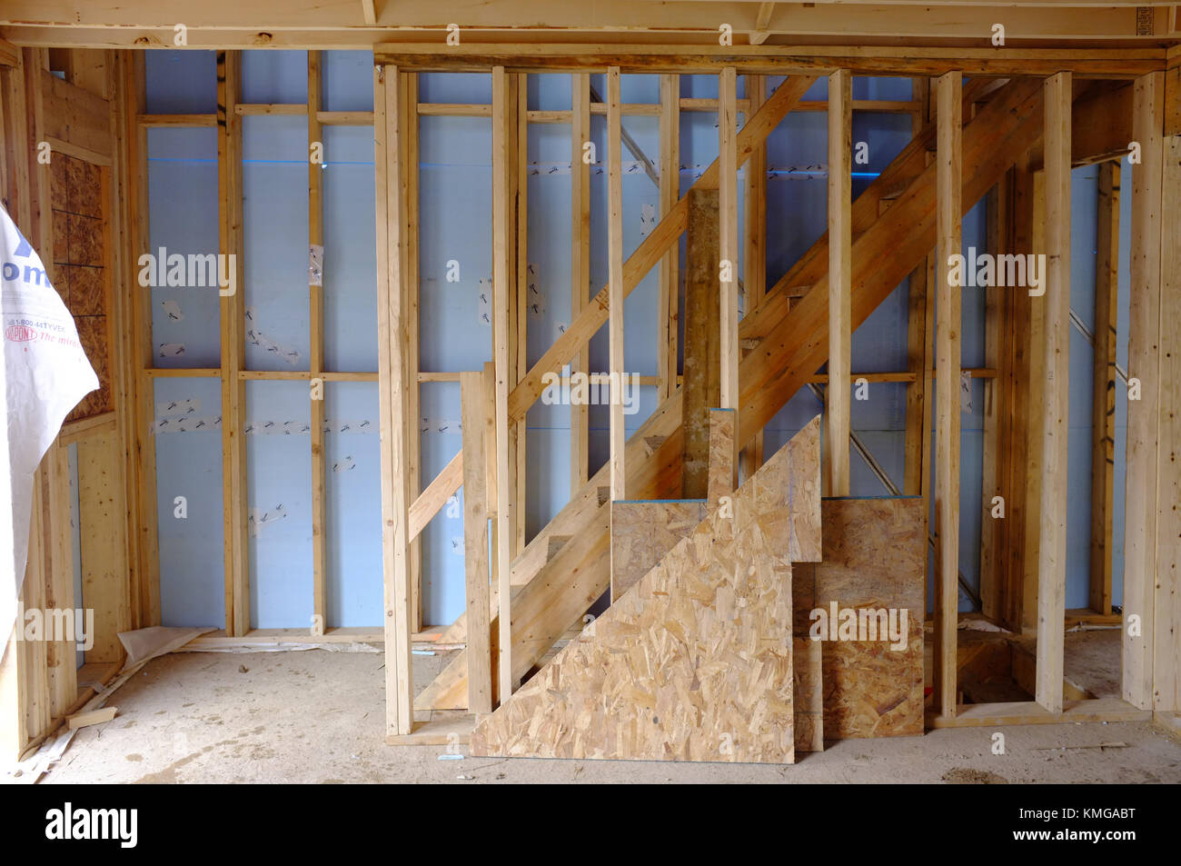 The Inside Of A House Under Construction In Ontario Canada Stock Photo Alamy