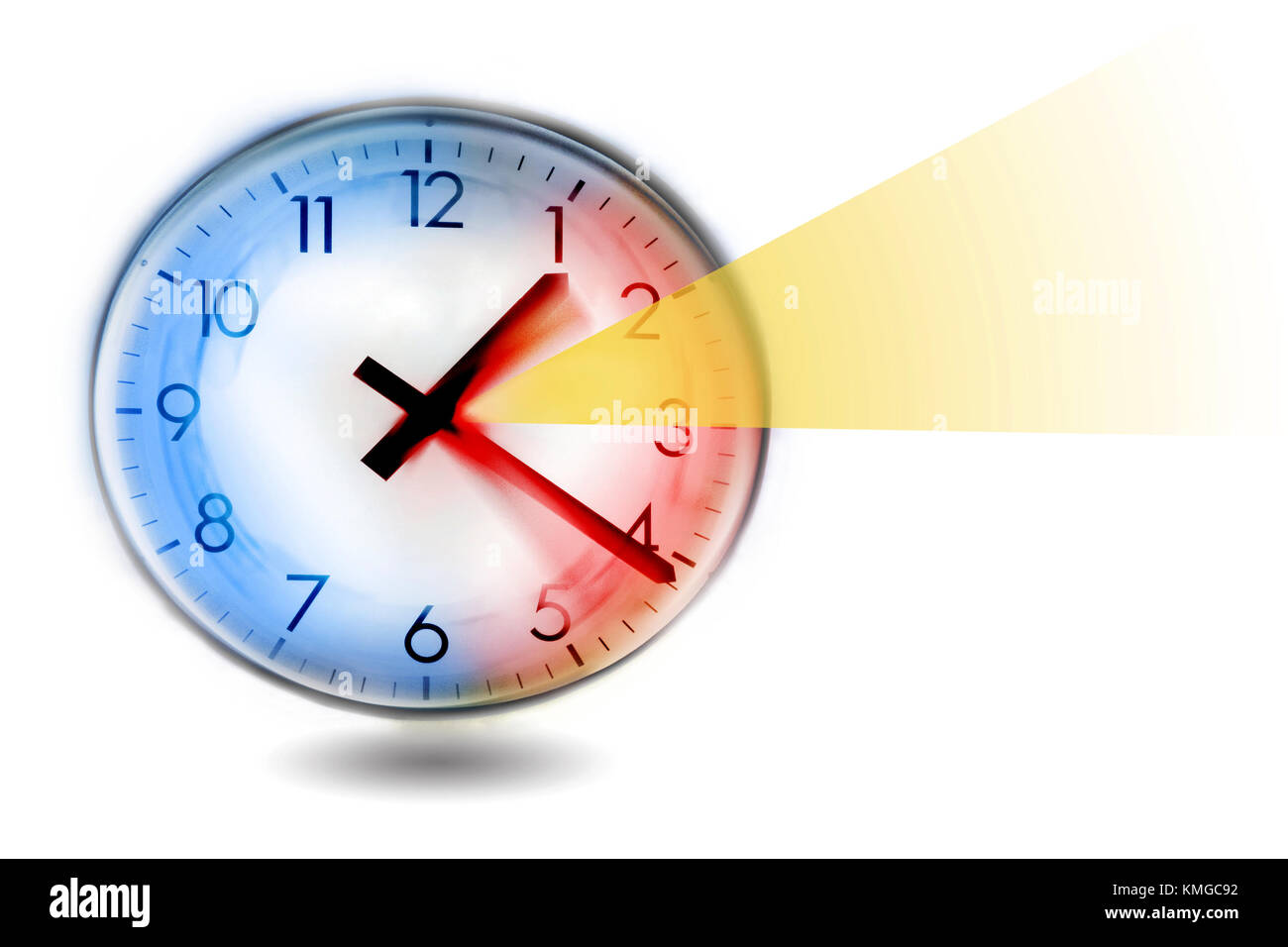 changing clock from wintertime to summertime - Stock Image