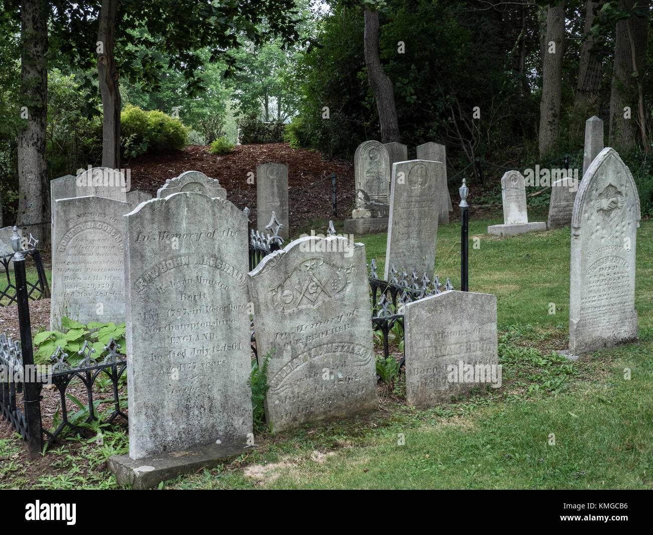 Old French Cemetery, Lunenburg, Nova Scotia, Canada. Stock Photo