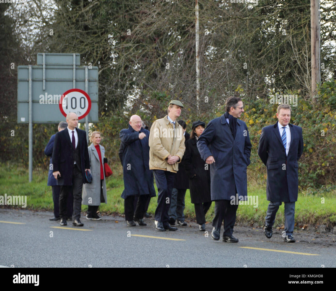 The Brexit Committee visiting the border crossing at Middletown, Co. Armagh, Northern Ireland on Thursday December - Stock Image