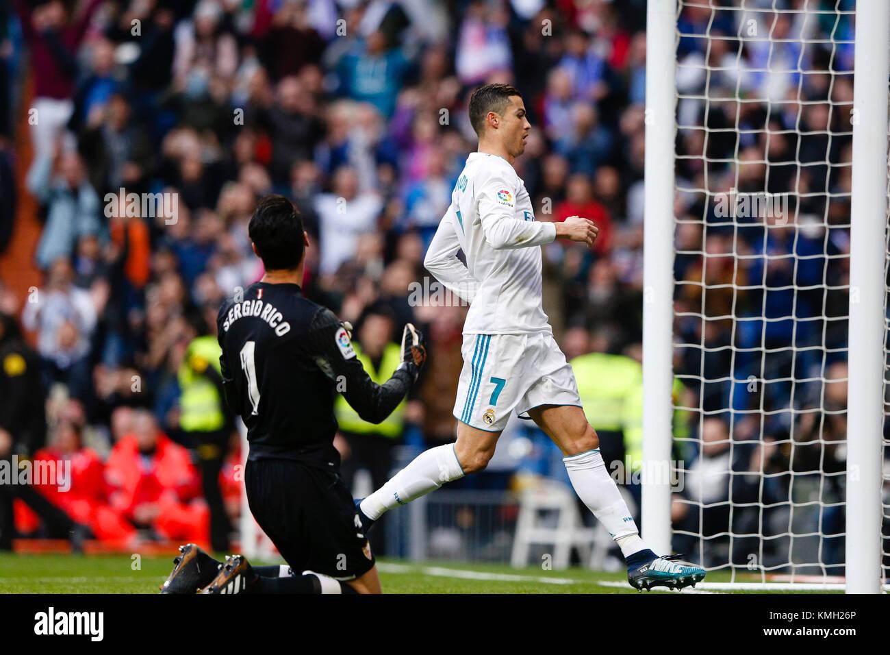 Cristiano Ronaldo Dos Santos Of Real Madrid Celebrates The 3 0 Stock Photo Alamy