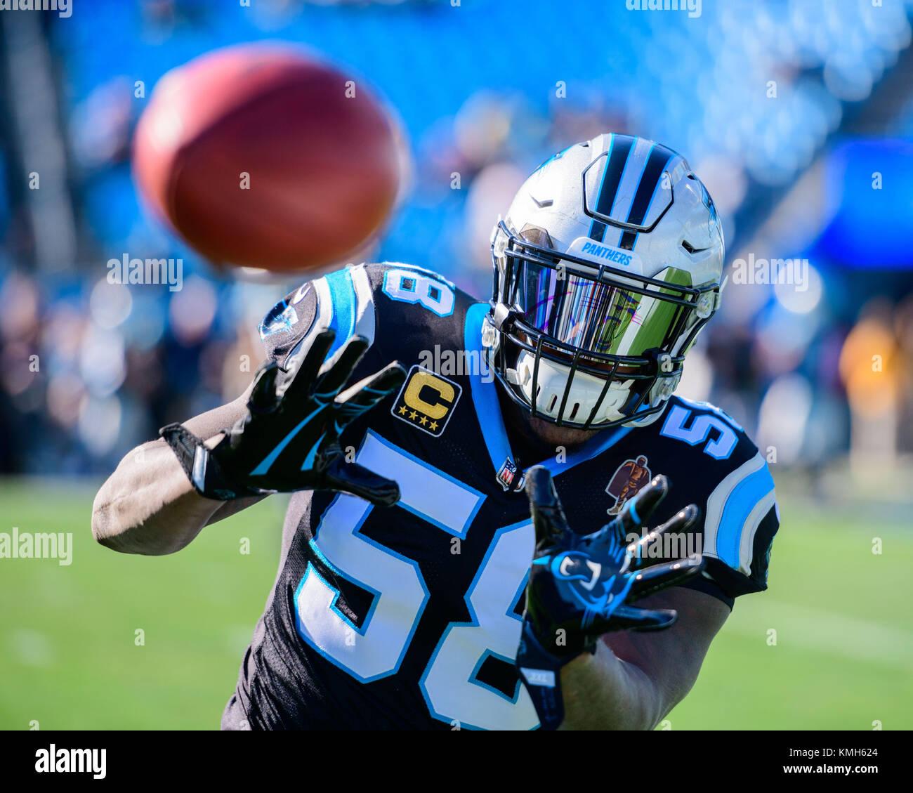 uk availability 37c05 c281a Charlotte, USA. 10th Dec, 2017. Carolina Panthers linebacker ...