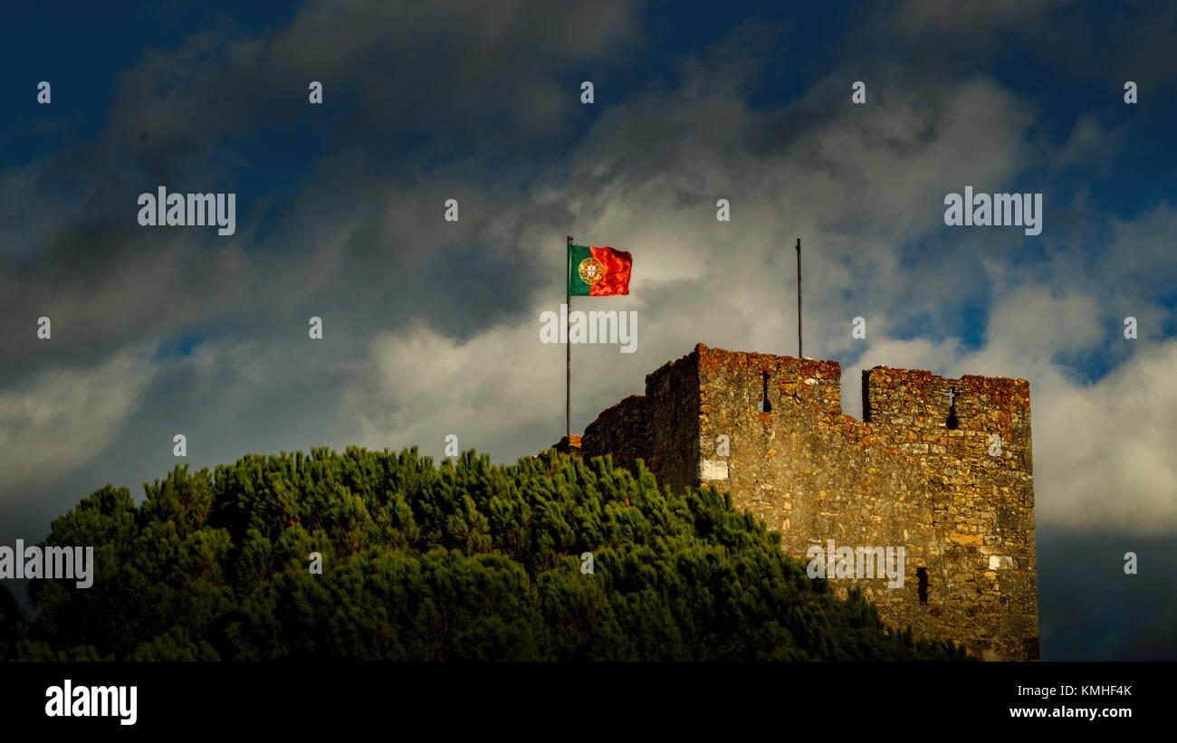 Convento de Cristo in Tomar Portugal during fall colors. - Stock Image