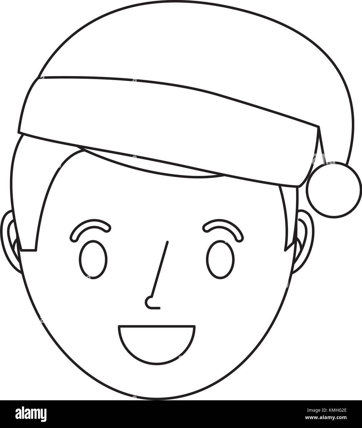 Boy Wearing Winter Hat Black And White Stock Photos