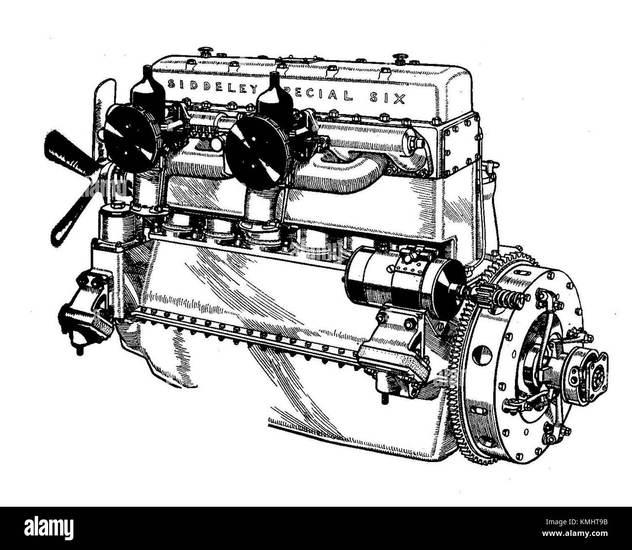 Armstrong-Siddeley Special Six engine, in Hiduminium alloy (Autocar  Handbook, 13th ed