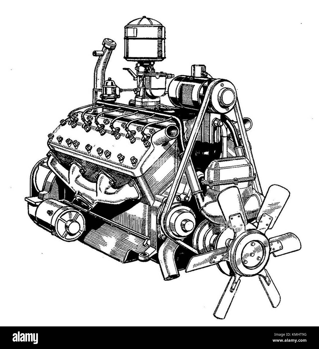 v12 engine cut out stock images pictures alamy rh alamy com 1943 Lincoln Zephyr V12 Crate Engine