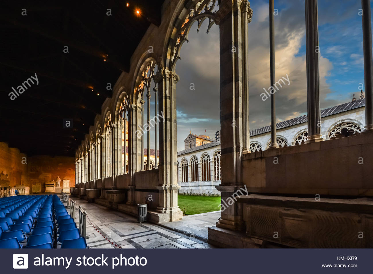 The Camposanto on the Square of Miracles in the Tuscan region of Pisa Italy - Stock Image