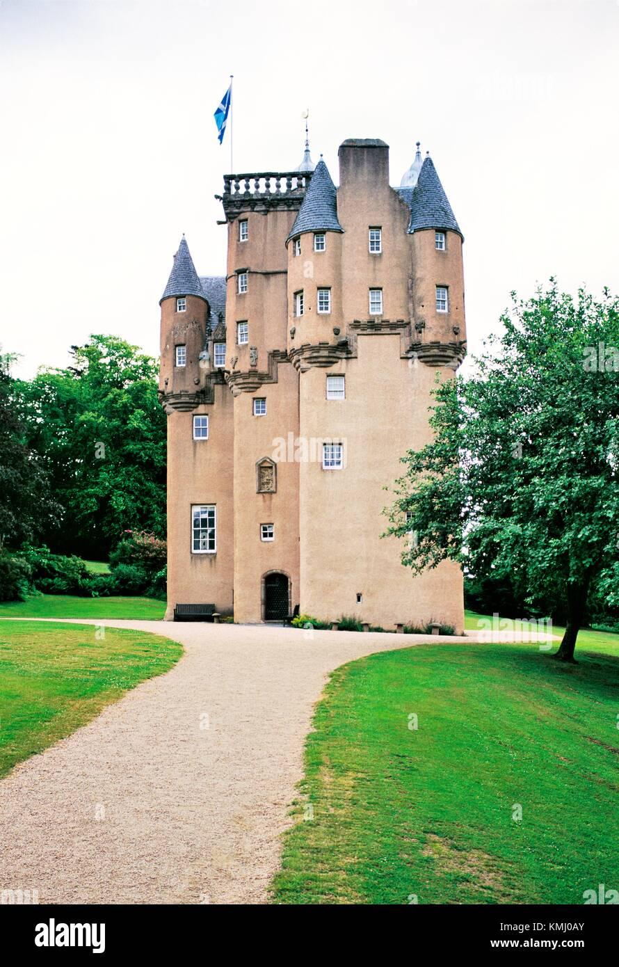 Craigievar Castle, Alford, Grampian Region, Scotland. Classic Scottish Baronial style completed in 1626 - Stock Image
