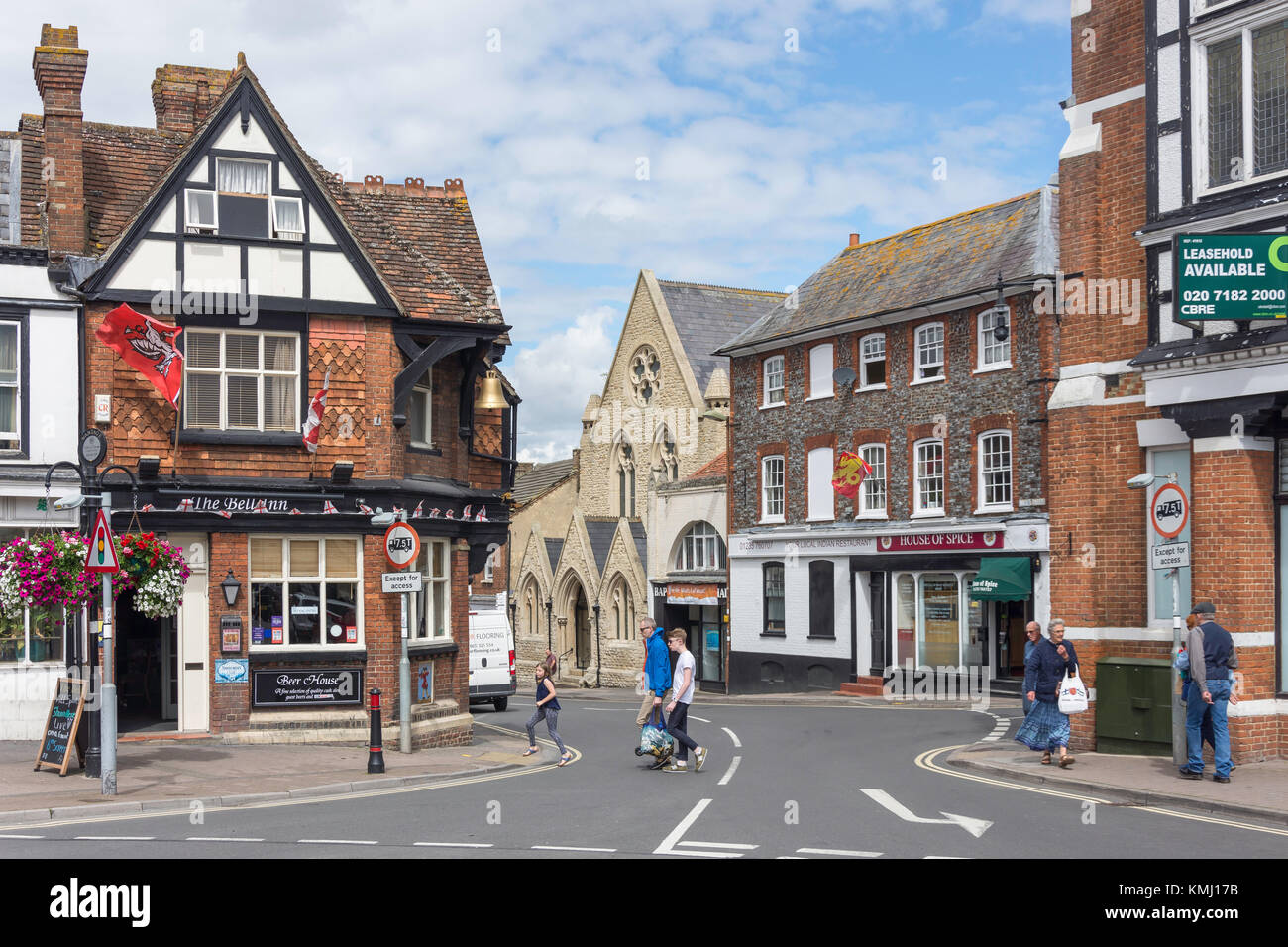 Mill Street from Market Place, Wantage, Oxfordshire, England, United Kingdom - Stock Image