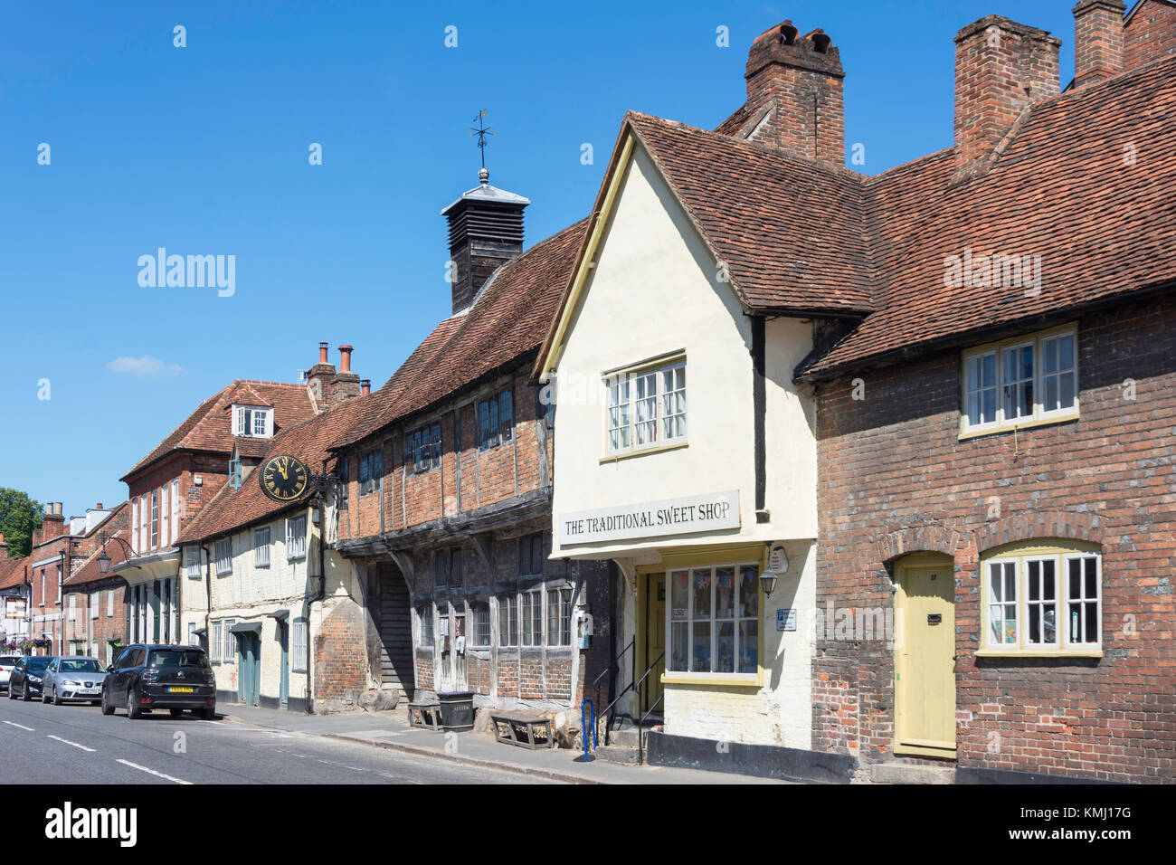 The Old Church Hall and Sweet Shop, High Street, West Wycombe, Buckinghamshire, England, United Kingdom - Stock Image