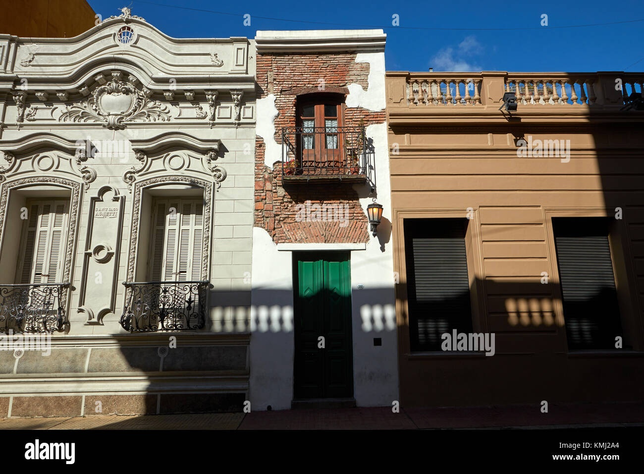 Casa Minima (narrowest house in Buenos Aires), San Telmo, Buenos Aires, Argentina, South America Stock Photo