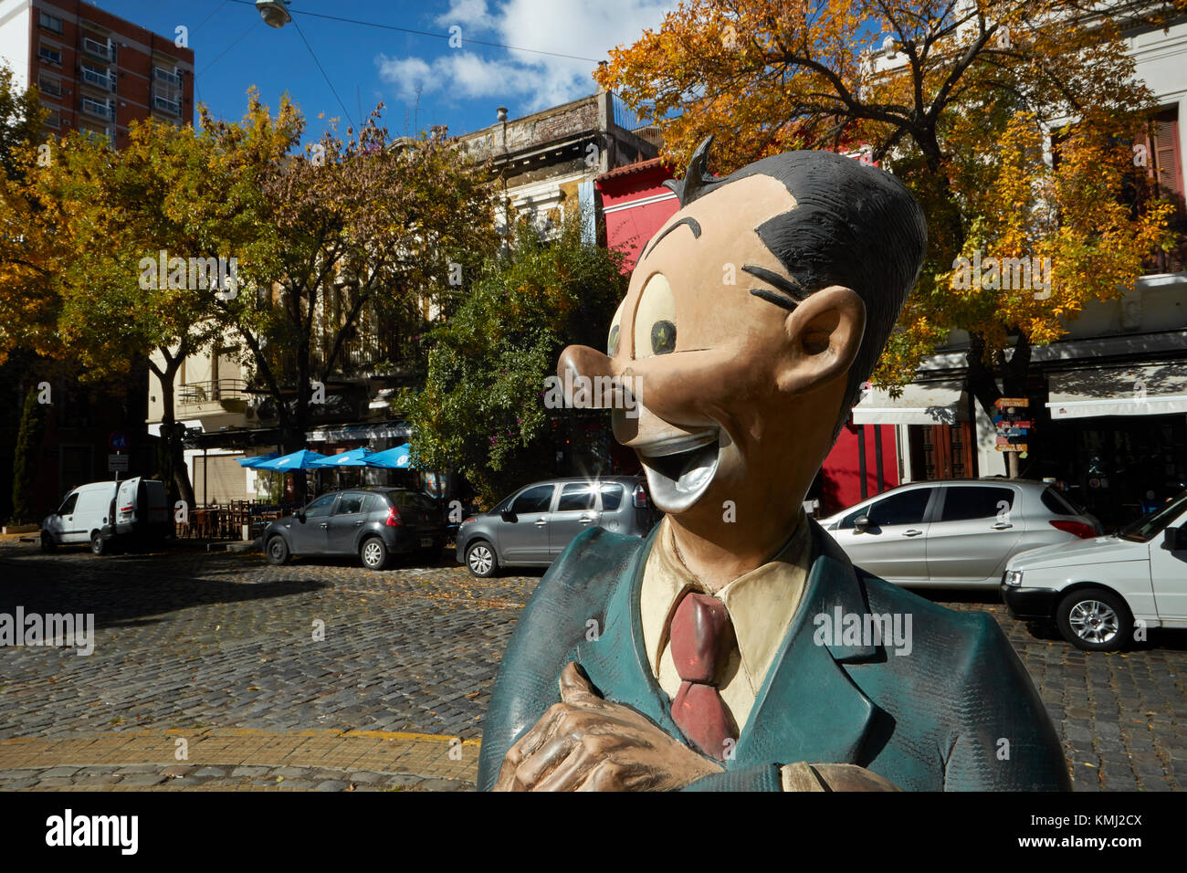 Isidoro Canones cartoon character, Avenida Chile, San Telmo, Buenos Aires, Argentina, South America Stock Photo