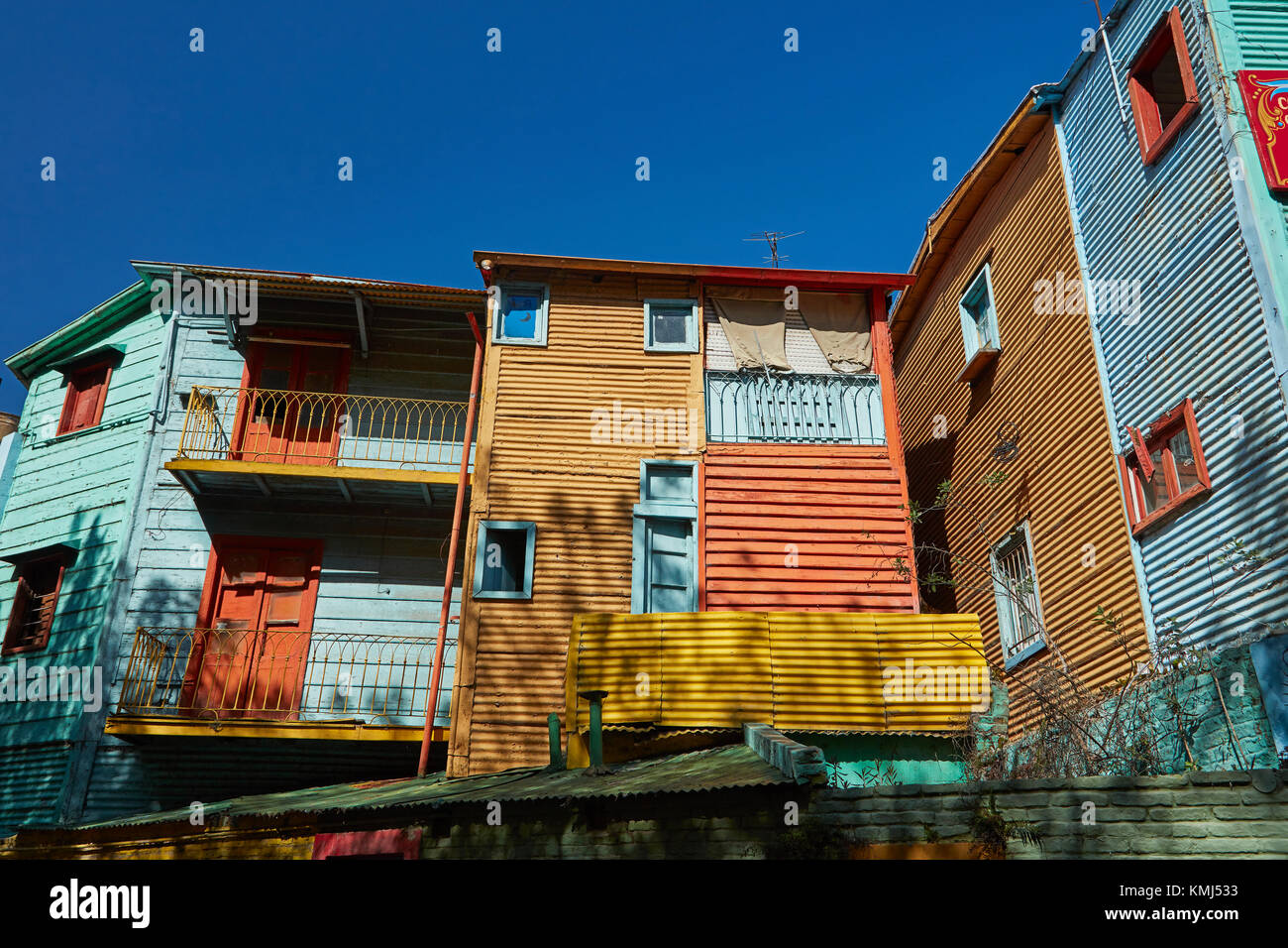 Buildings on El Caminito, La Boca, Buenos Aires, Argentina, South America - Stock Image