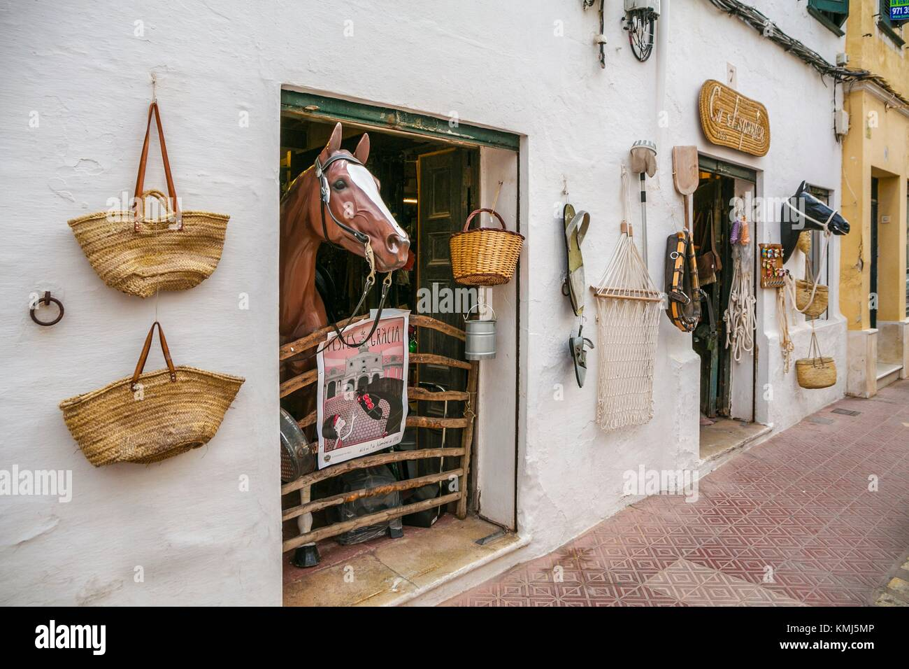Ca s´Esparte Store. Mahón City. Maó Municipality. Menorca Island. Balearic Islands. Spain - Stock Image