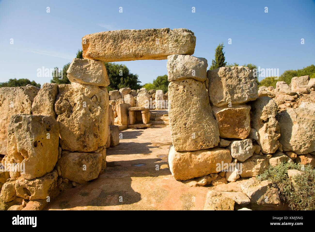 Binaparratxet Petit. Archeologic site from about 9th century B. C. Mahon airport. Situated at the south departure - Stock Image