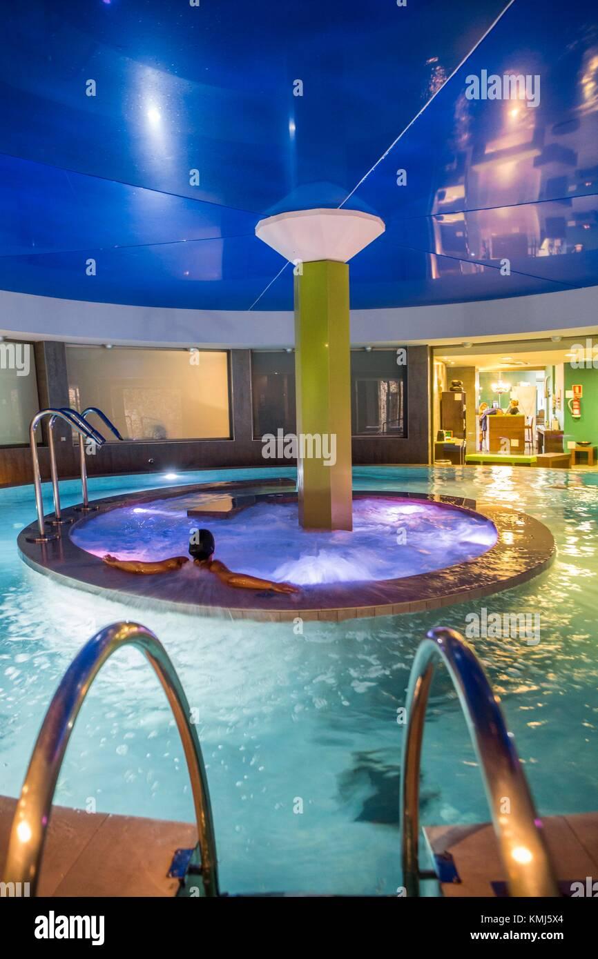Spa. Barcelo Pueblo Hotel. Punta Prima. Sant Lluis Municipality. Minorca Island. Balearic Islands. Spain - Stock Image