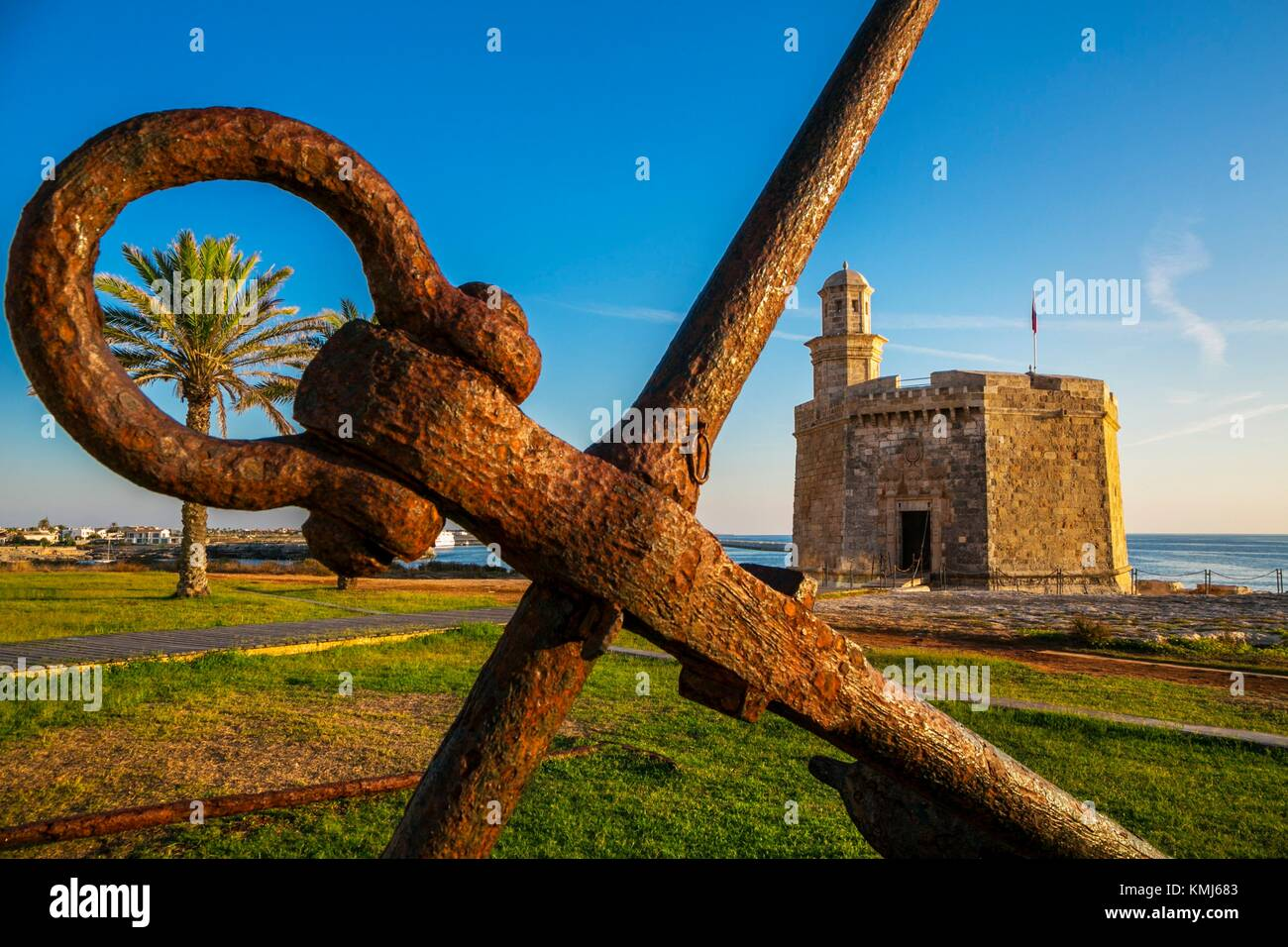 San Nicolas Castle. Ciutadella. Minorca. Balearic Islands. Spain - Stock Image