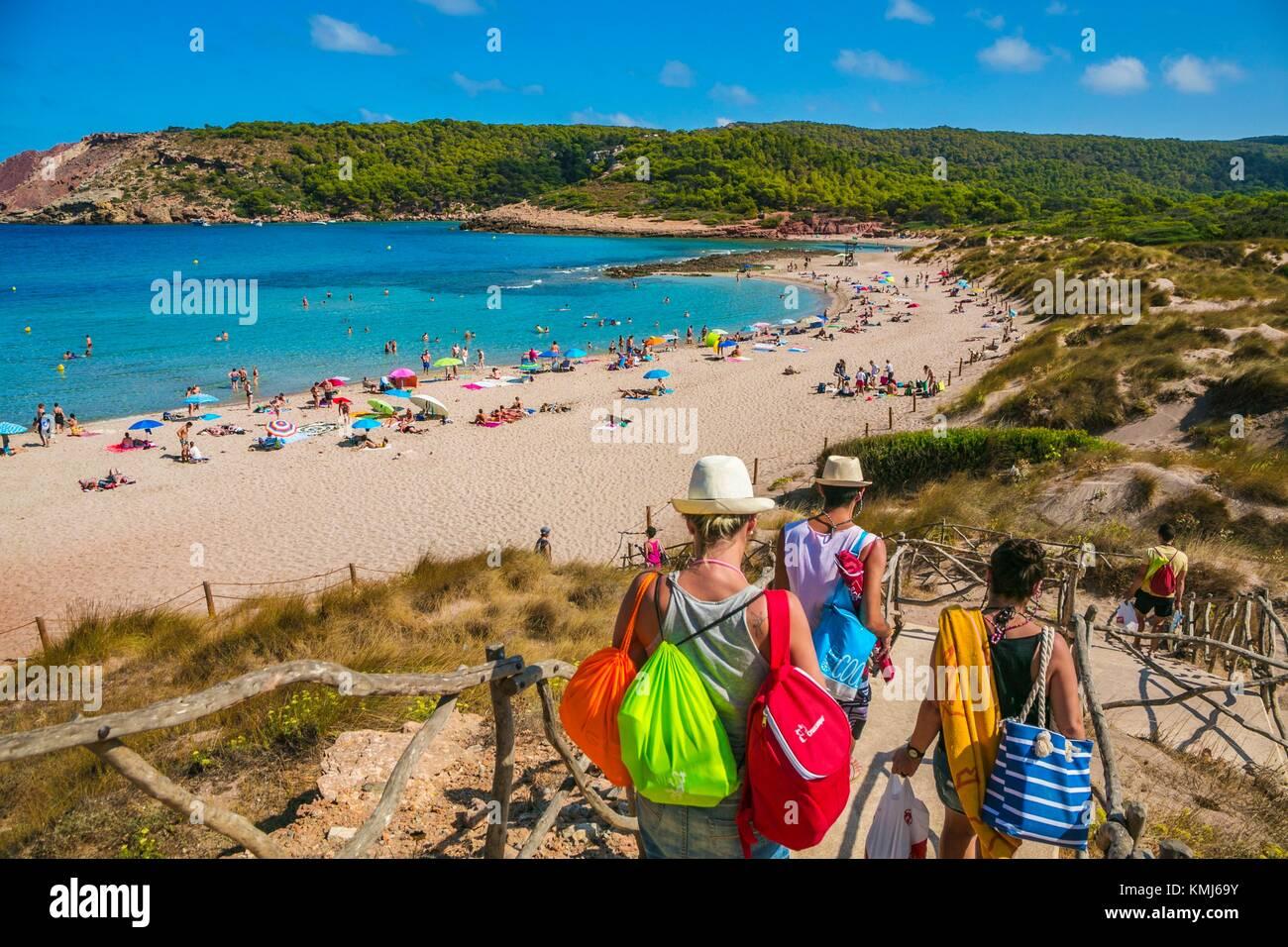 Cala Algaiarens beach. Es Tancats beach. Ciutadella de Menorca Municipality. Minorca. Balearic Islands. Spain - Stock Image