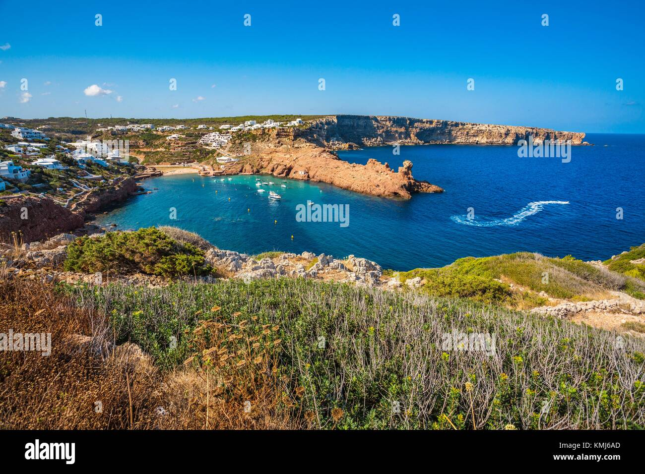 Cala Morell Bay. Ciutadella de Menorca Municipality. Minorca. Balearic Islands. Spain - Stock Image