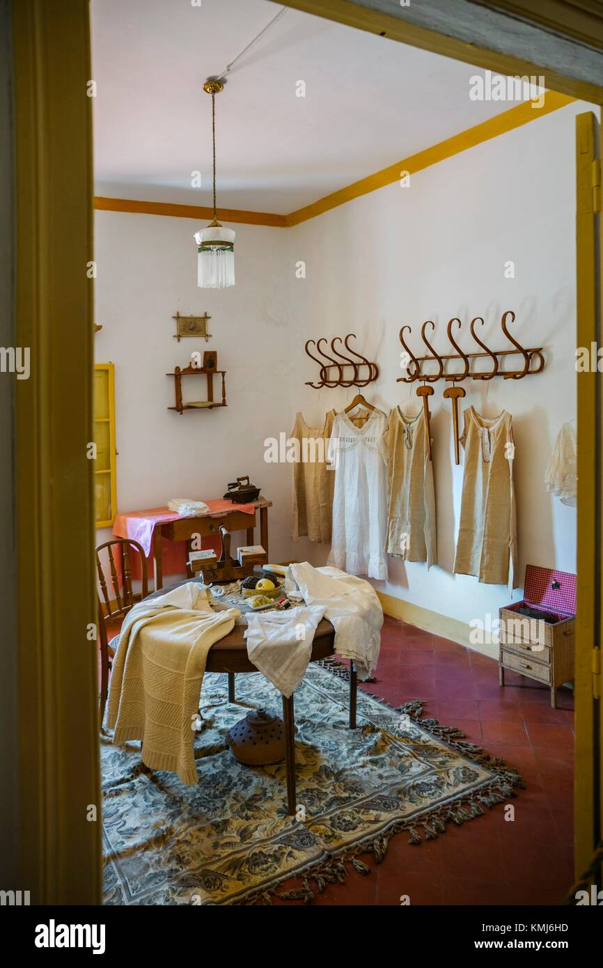 Sewing room. Manor House.Binissues manor houses of the eighteenth century is where the new Museum of Natural Sciences - Stock Image