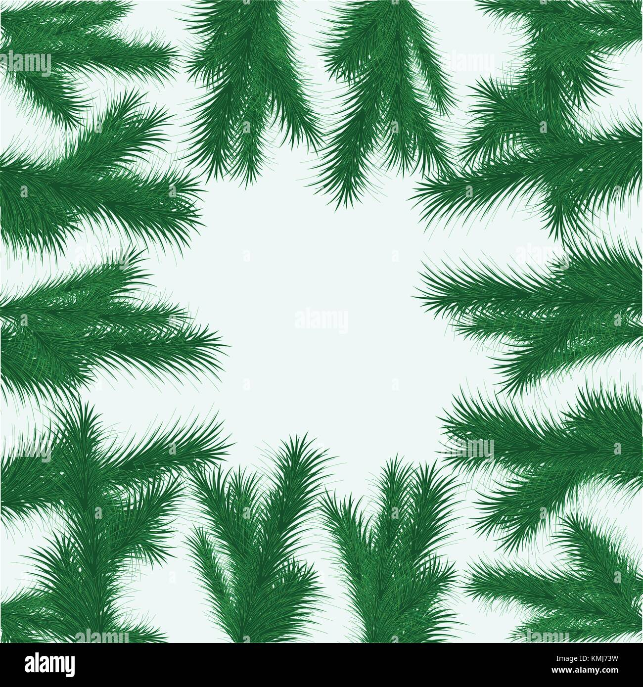 Background from fur branches - Stock Vector
