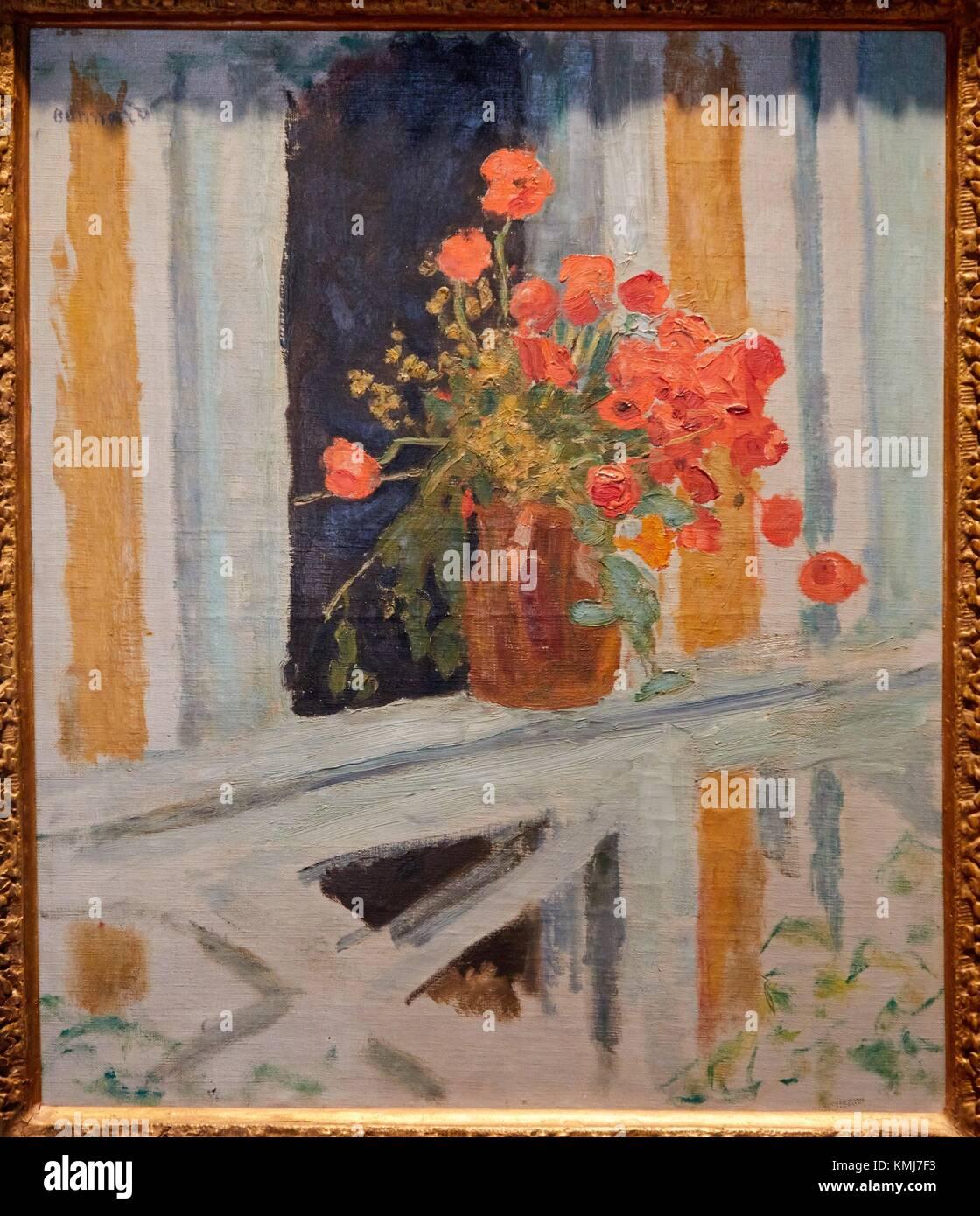 Les Coquelicots, 1912, Pierre Bonnard, Musée d'Art Moderne, Troyes, Champagne-Ardenne Region, Aube Department, - Stock Image