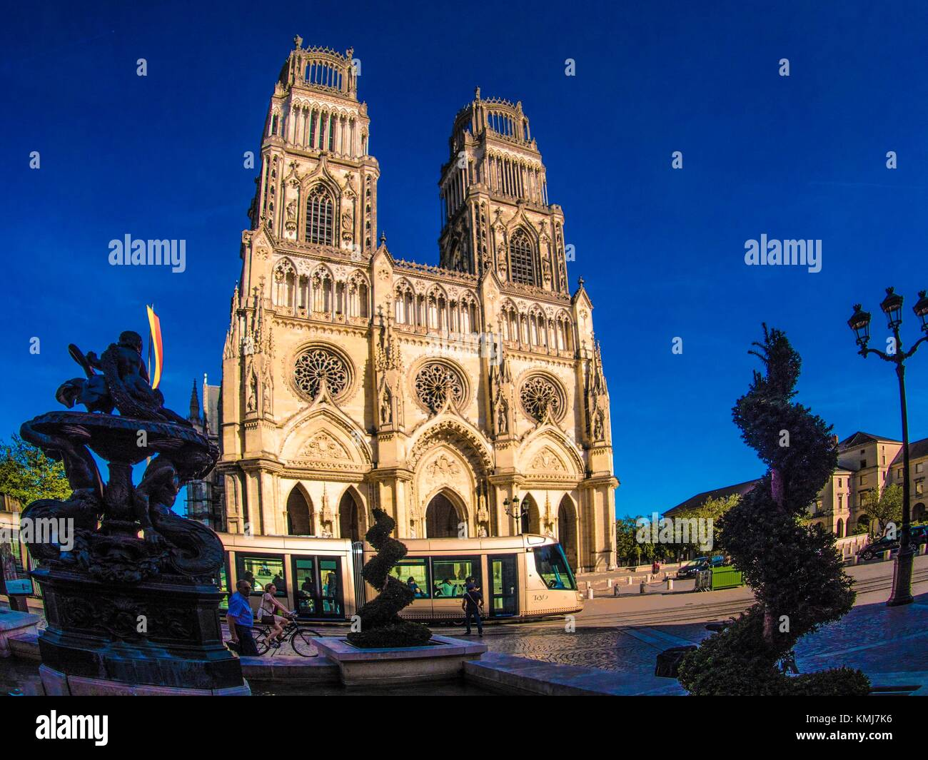 France, Loiret. Cathedrale of Orléans. - Stock Image