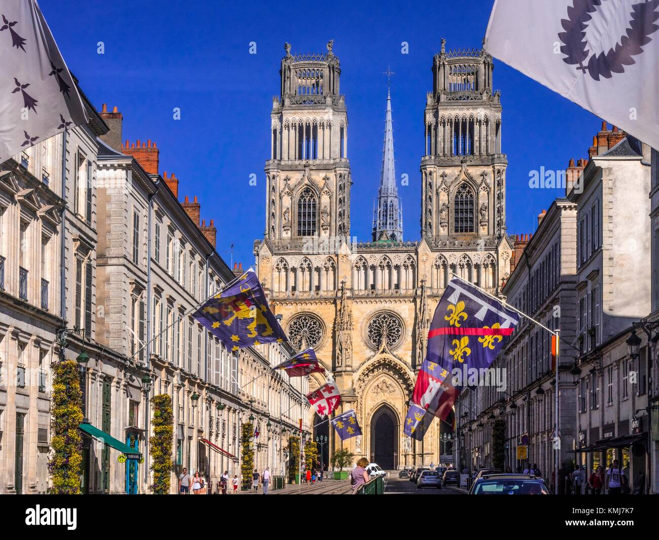 France, Loiret. Cathedrale at Orléans. - Stock Image