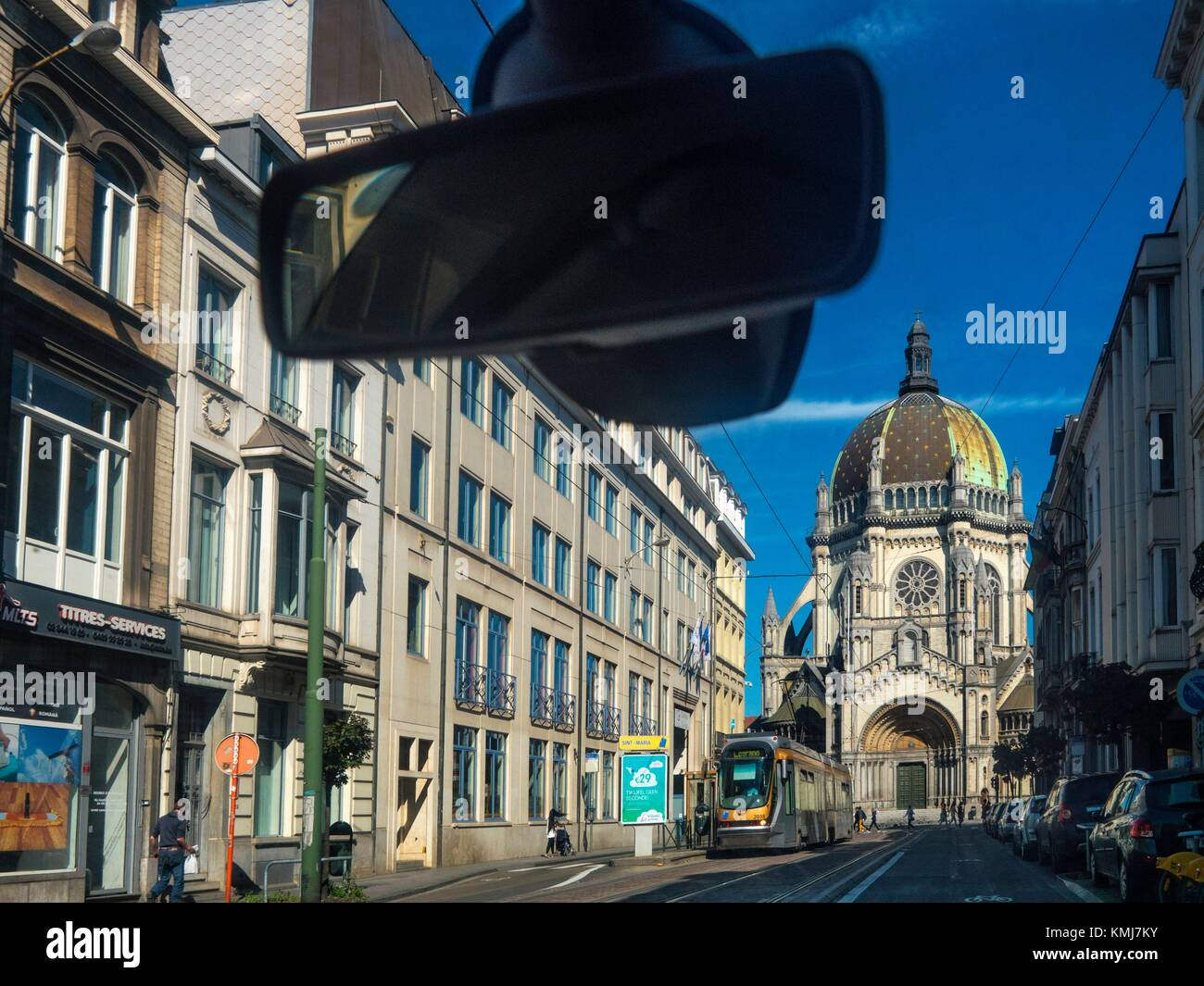 Belgium, Brussels, Sainte Marie church on the top of Rue Royale. Stock Photo