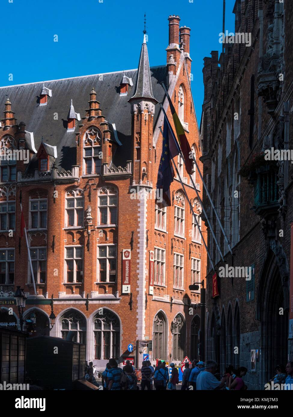 Belgium, Bruges- on the Markt (Gran Place). - Stock Image