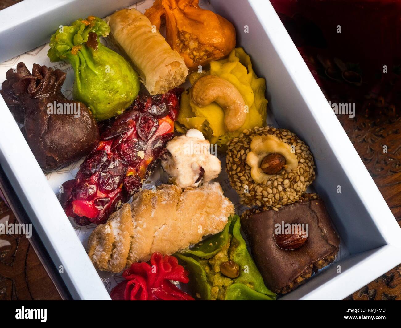 Syria-Food- Middle East sweets... - Stock Image