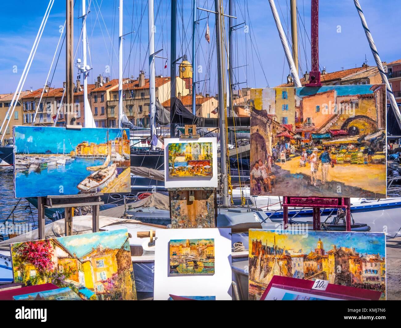 France, Paca- Côte d´Azur- at Saint Tropez. - Stock Image