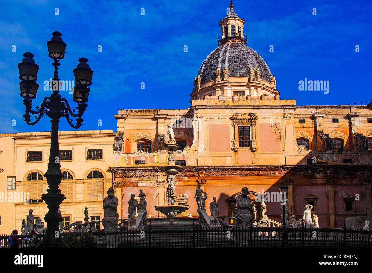 Italy-Sicily- Santa Catalina church at the old Palermo. - Stock Image