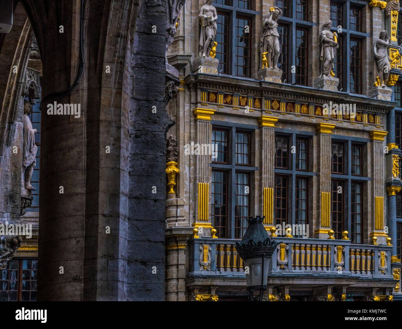 Belgium.  detail at the 'Grande Place', Brussels. - Stock Image