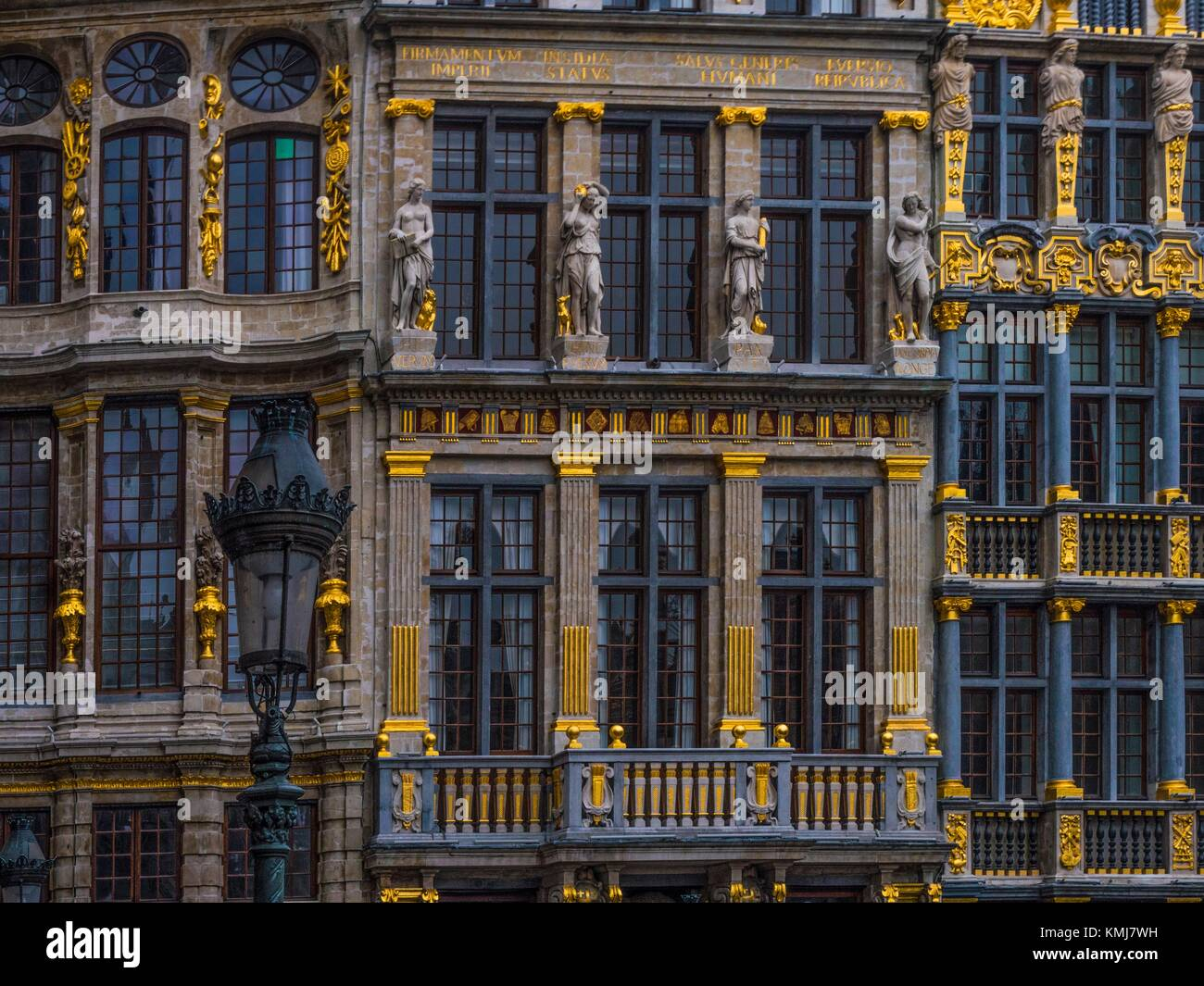 Belgium.  detail at the 'Grande Place' at Brussels. - Stock Image