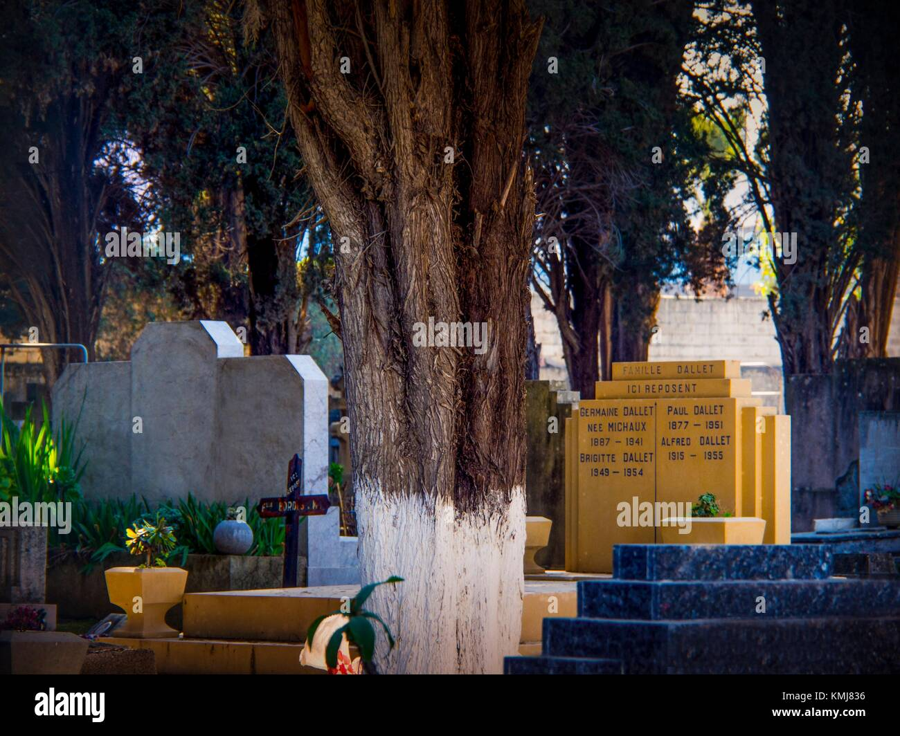 Morocco, Fes, Christian cemetery at Fes. - Stock Image