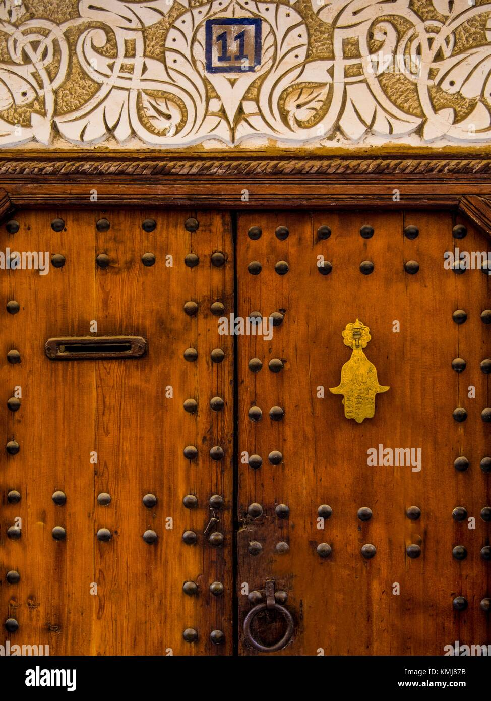 Morocco, Fes, doorway in the ''Medina'' (old part) of Fes. - Stock Image