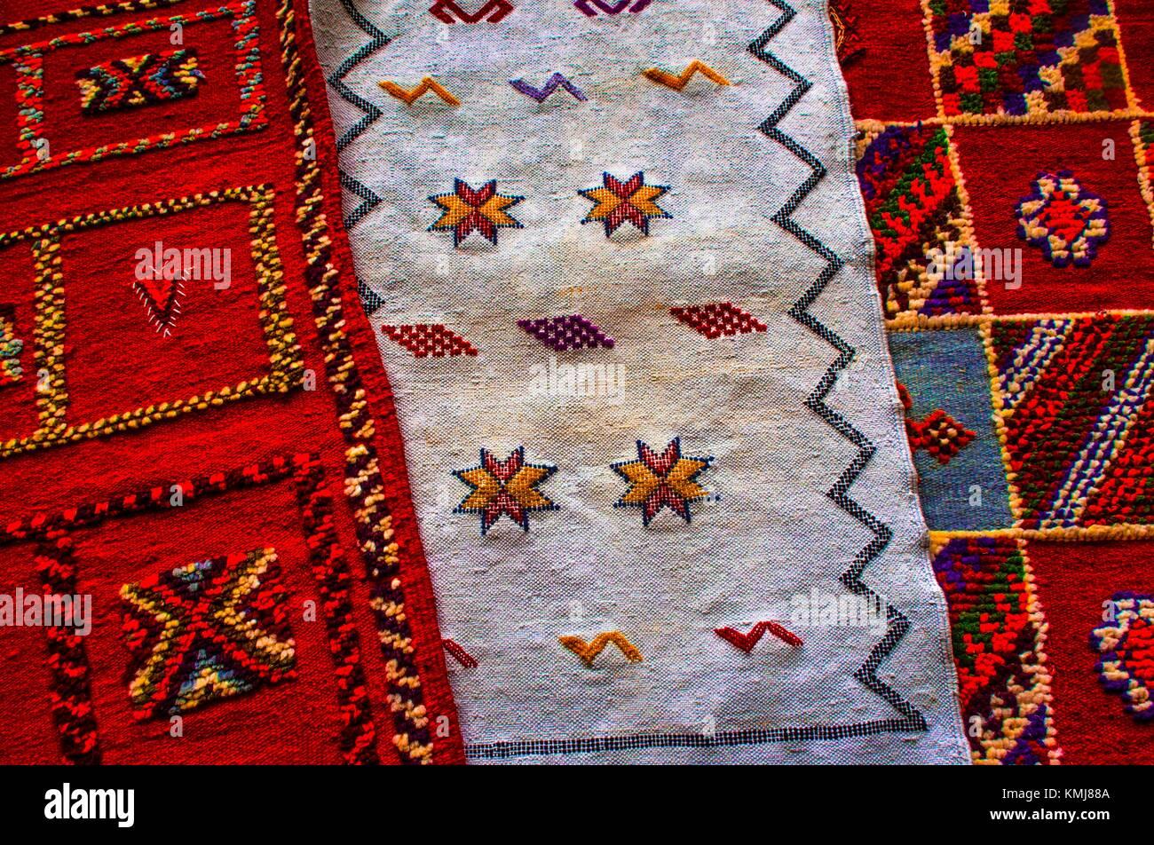 Morocco, Handicraft. Berber carpets - Stock Image