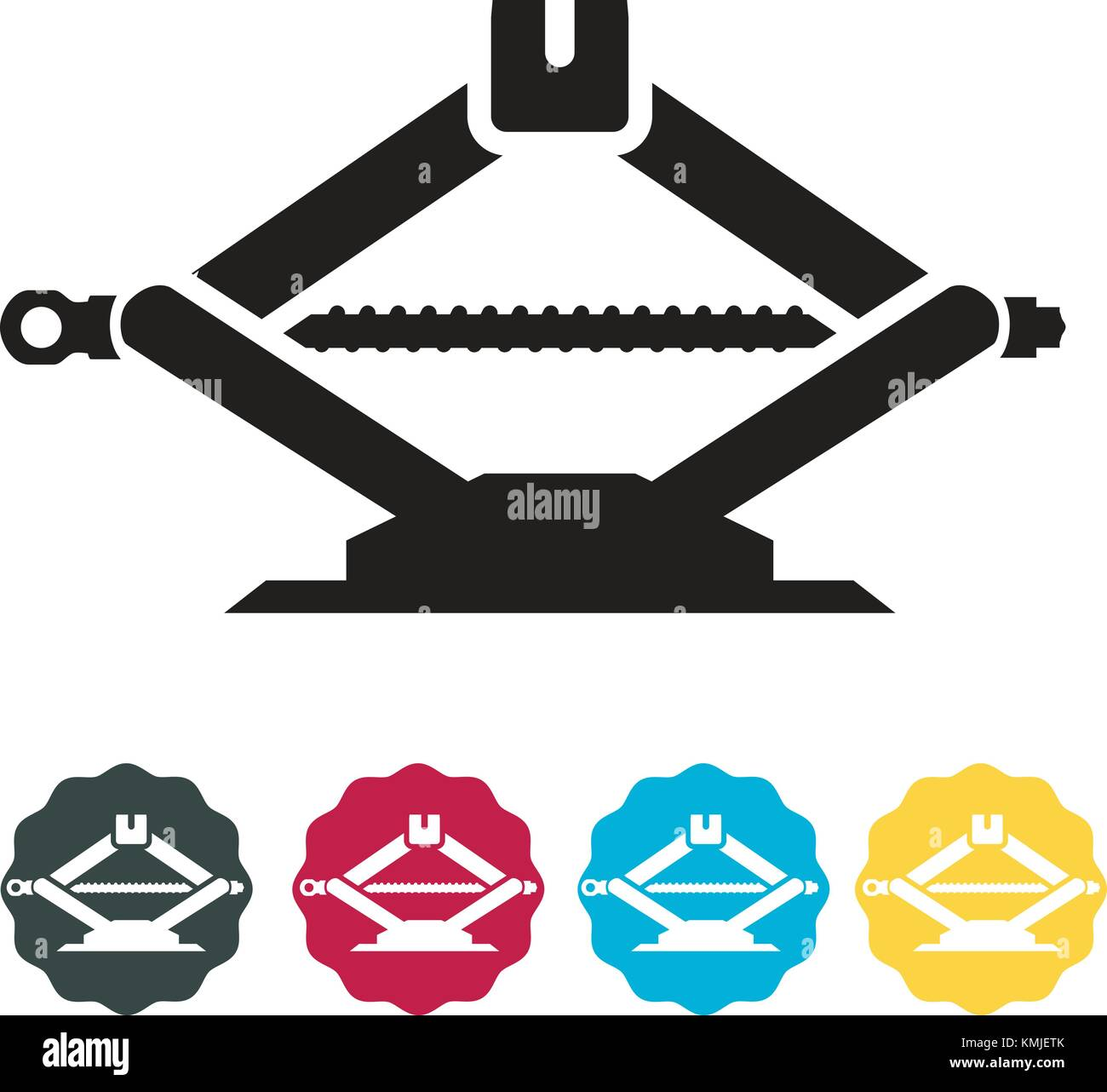 Car Tire Jack - Icon Illustration as EPS 10 File - Stock Vector
