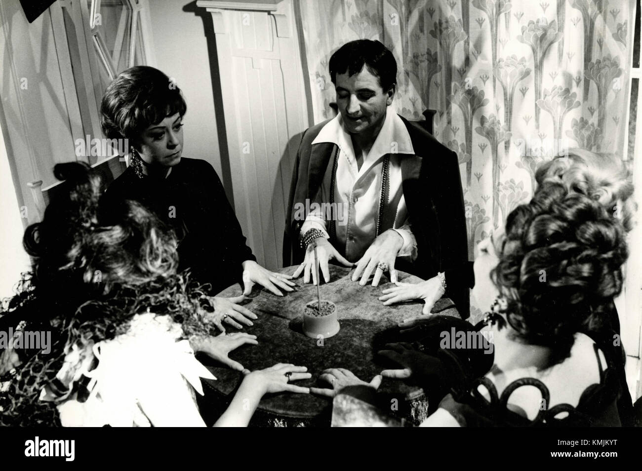 Movie still from the filming of Juliet of the Spirits, Italy 1965 - Stock Image