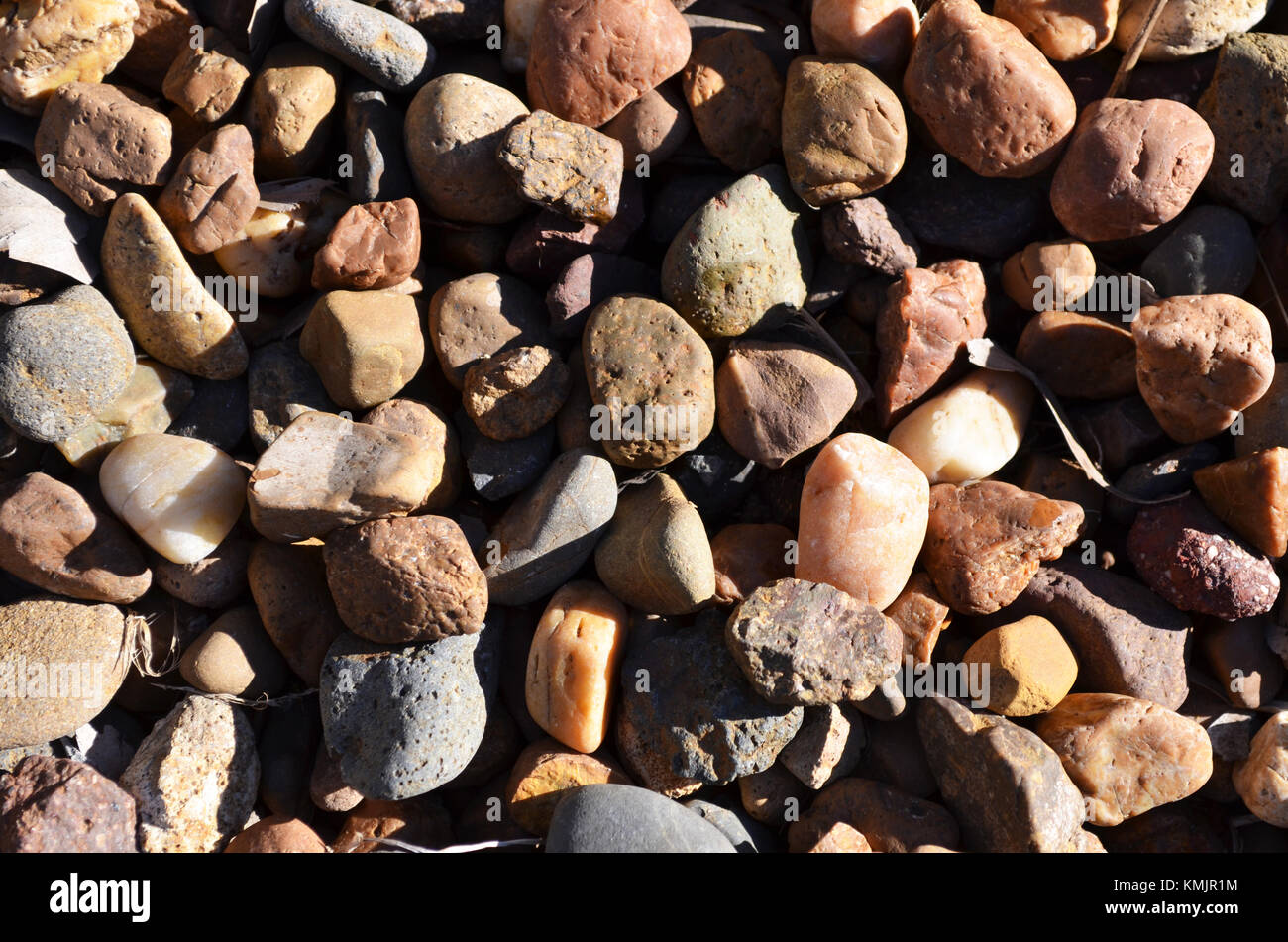 Close up of pebbles - Stock Image