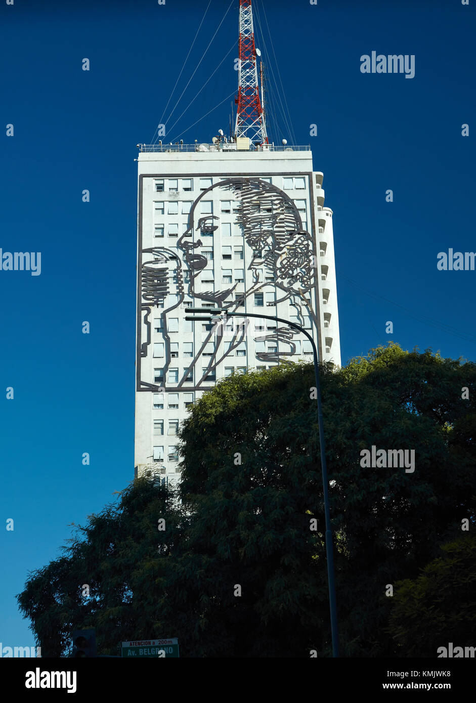 red bull consolidated offices. Giant Artwork Of Eva Peron On Side Office Building, Buenos Aires, Argentina, Red Bull Consolidated Offices E