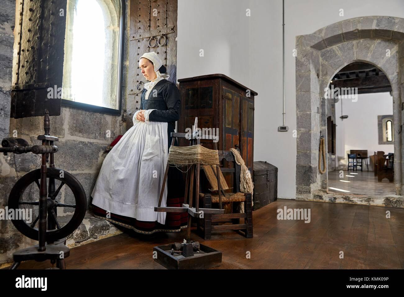 The honor of Lili, Theatrical experience in a historical space, Lili Jauregia, Palacio Lili, Zestoa, Cestona, Gipuzkoa, - Stock Image