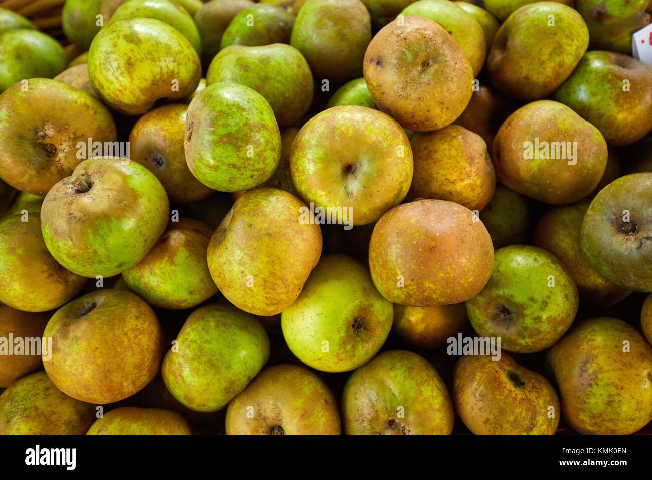 Reineta apple, Ordizia Market, Special Christmas market, Ordizia, Gipuzkoa, Basque Country, Spain, Europe - Stock Image