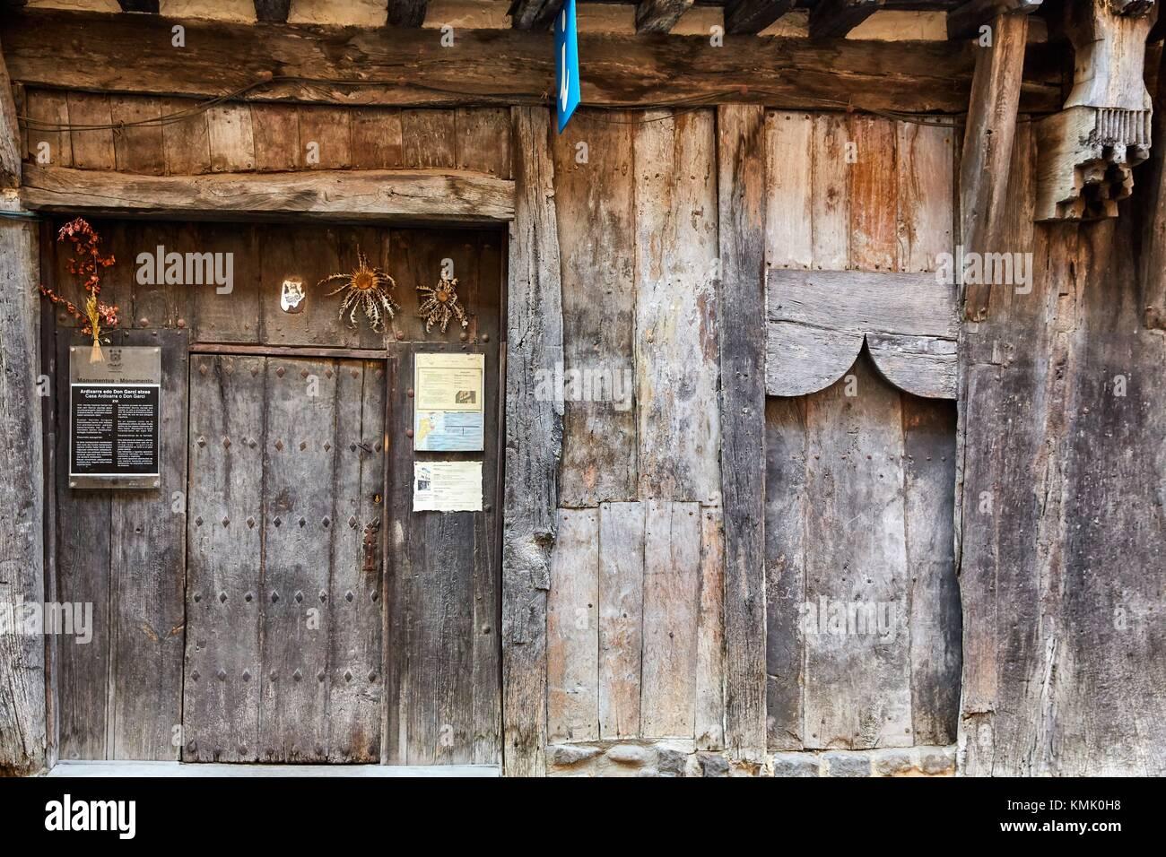 Ardixarra House, Interpretation Center of the Middle Ages, Medieval town, Segura, Gipuzkoa, Basque Country, Spain, - Stock Image