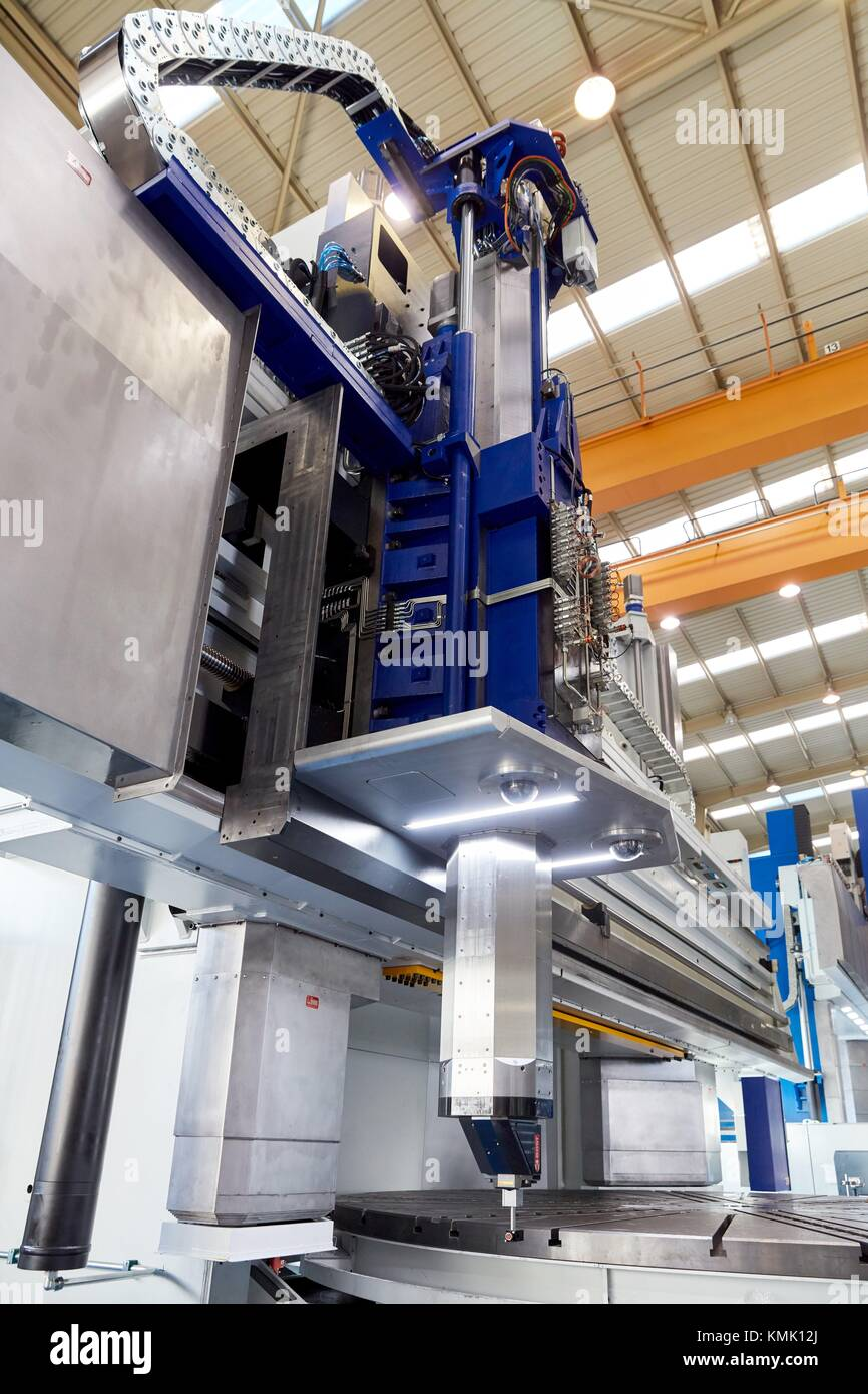 Machining Centre, CNC, Vertical lathe, Design, manufacture and installation of machine tools, Gipuzkoa, Basque Country, - Stock Image