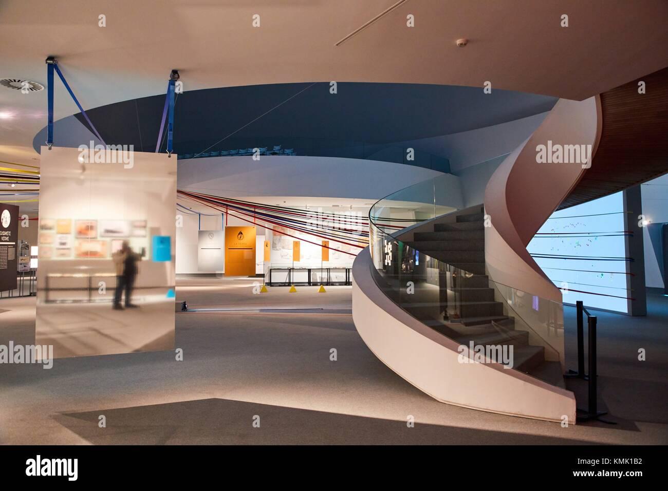 Exhibition Julio Verne, The Limits of Imagination, Oscar Niemeyer International Cultural Centre, Avilés, Asturias, - Stock Image