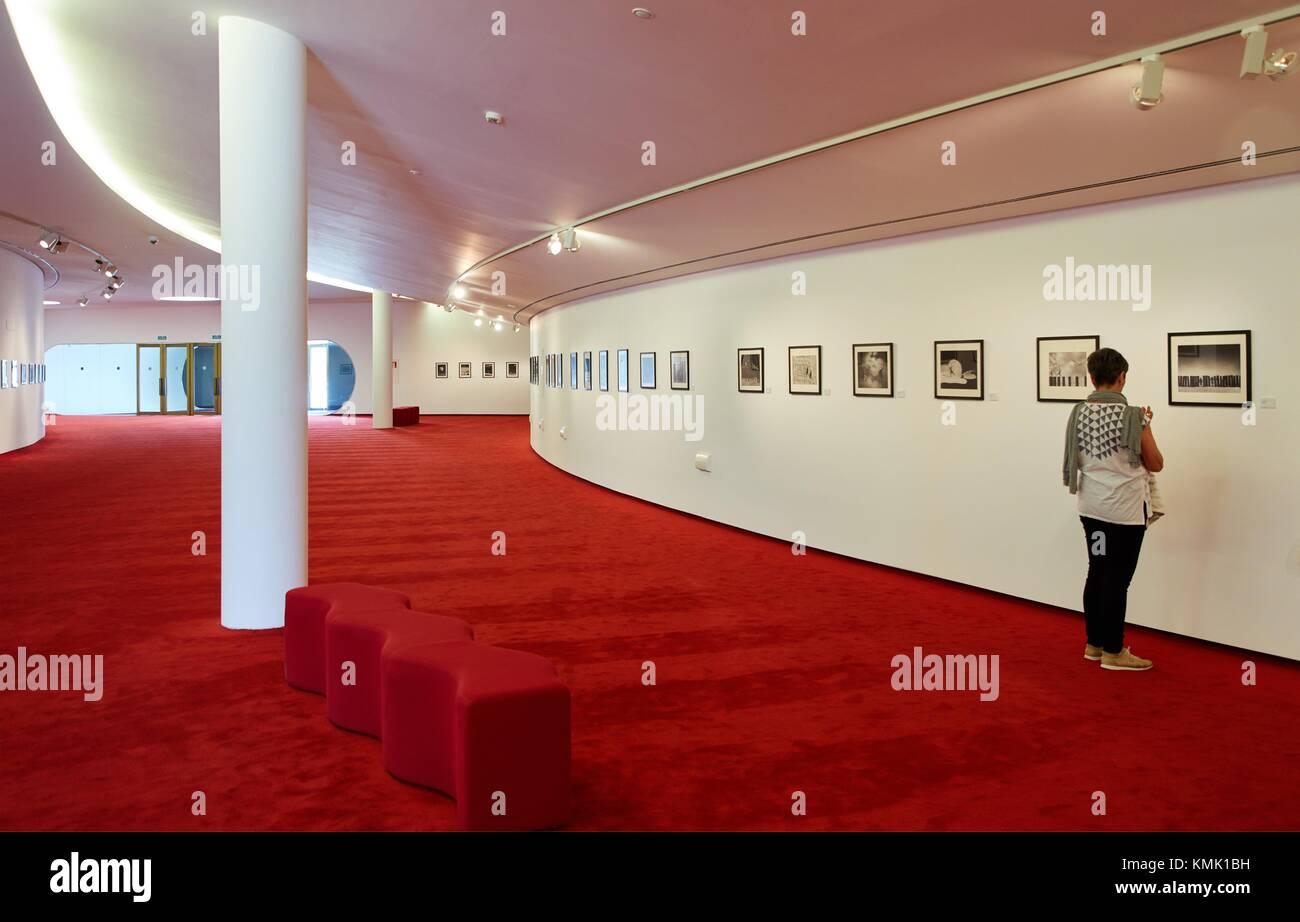 Exhibition ''The utopias of Gilbert Garcin'', Oscar Niemeyer International Cultural Centre, Avilés, - Stock Image